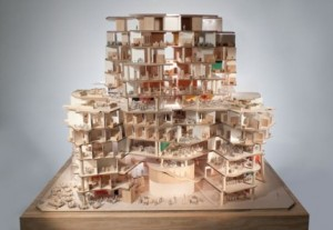 Gehry Sydney model west section – image Gehry Partners, LLP