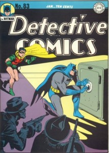 "Accidentally on Purpose!, ""Detective Comics"" #83, January 1944, cover"