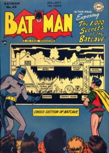 "The 1,000 Secrets of the Batcave, ""Batman"" #48, August-September 1948, cover"
