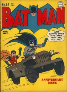 "The Wizard of Words, ""Batman"" #12, August-September 1942, cover"