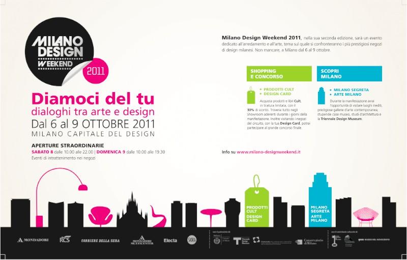 3983fc9d3a26 Diamoci del tu. Dialoghi fra arte e design è il tema della seconda edizione  di MILANO DESIGN WEEKEND