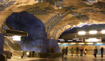 Metro Stoccolma T-Centralen linea blue imagecredits PD