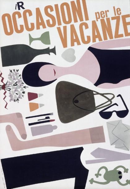 Lora Lamm poster Occasioni per le vacanze La Rinascente 1959 imagecredits maxmuseo.ch