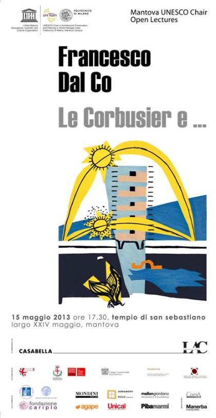 locandina Dal Co Le Corbusier Mantova