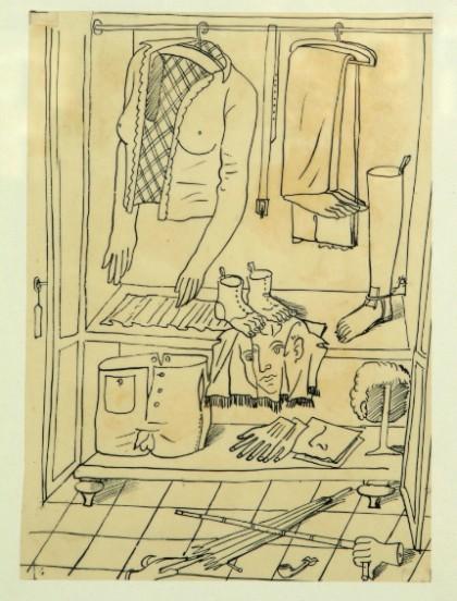 Piero Fornasetti Guardaroba surreale 1940 imagecredits Fornasetti