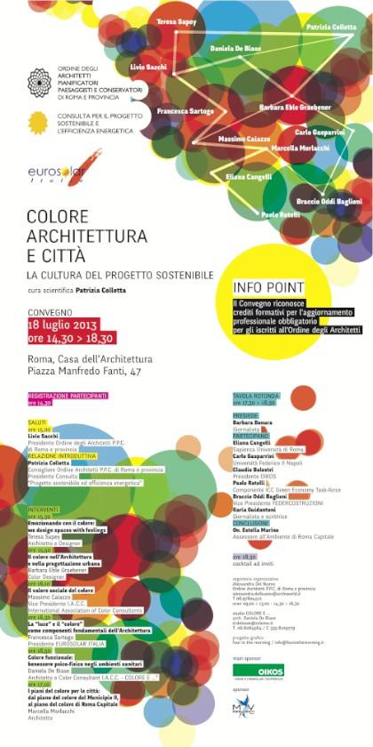 locandina Colore Architettura Città imagecredits architettiroma.it
