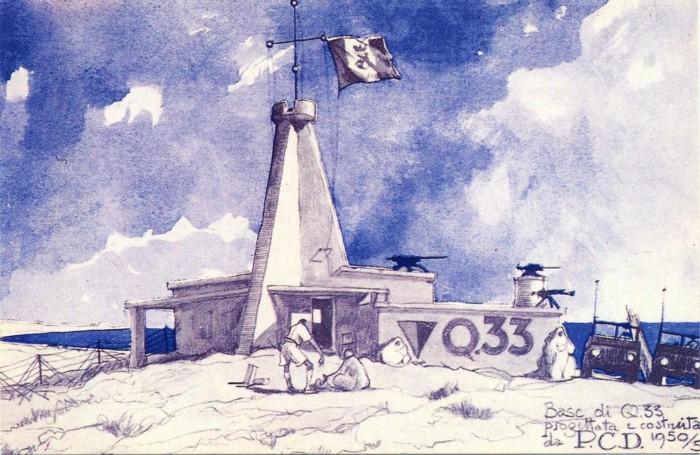 Paolo Caccia Dominioni Base italiana di Quota 33 1950-53