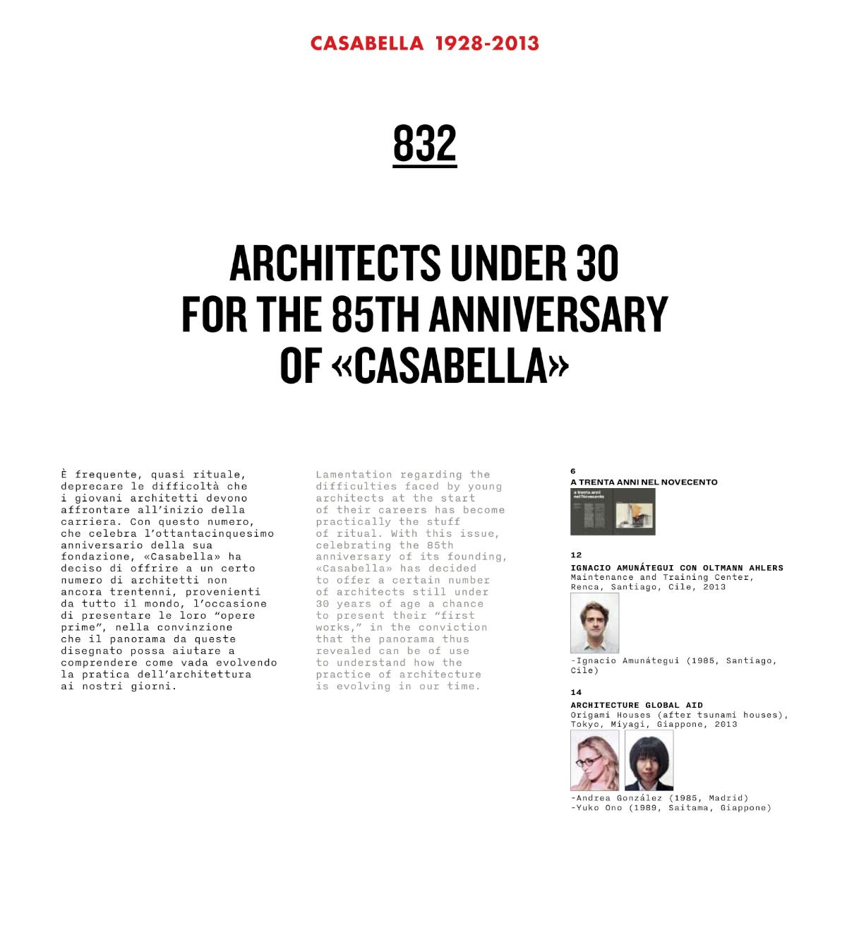 Architects under 30