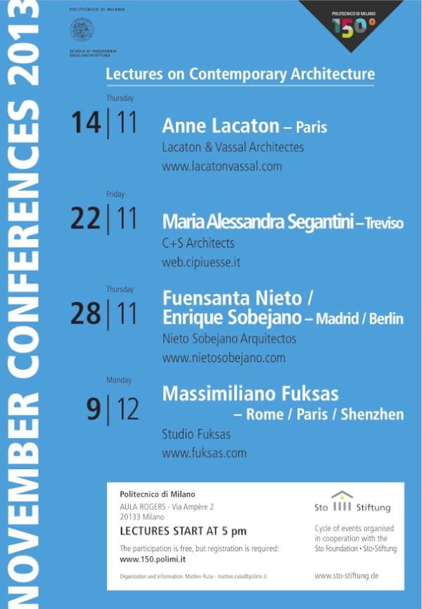 Polimi 150 conferenze novembre