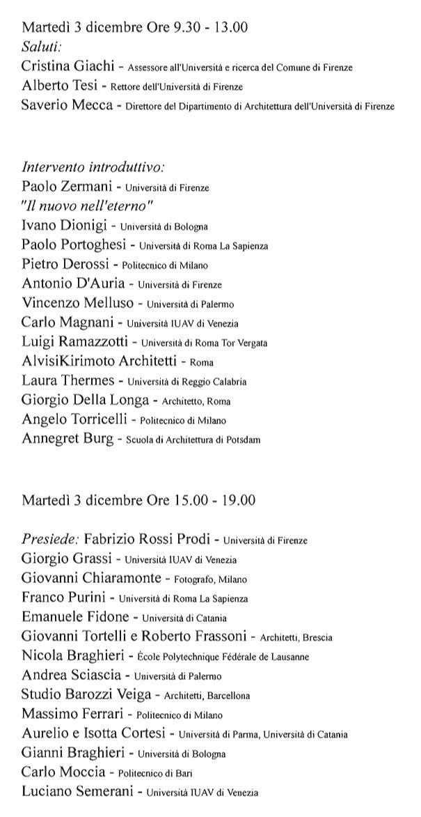 XI convegno identità architettura italiana programma1