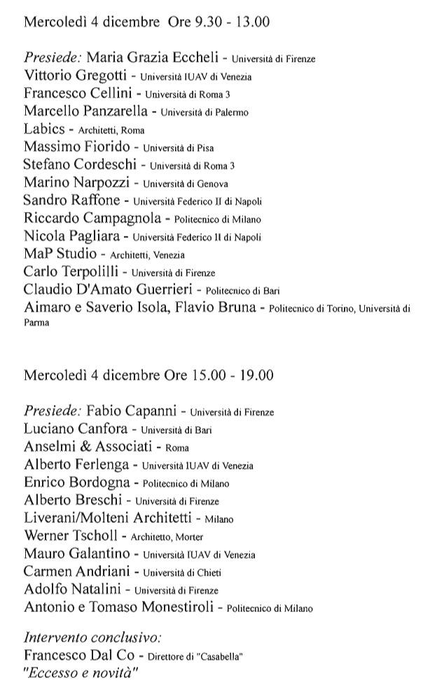 XI convegno identità architettura italiana programma2