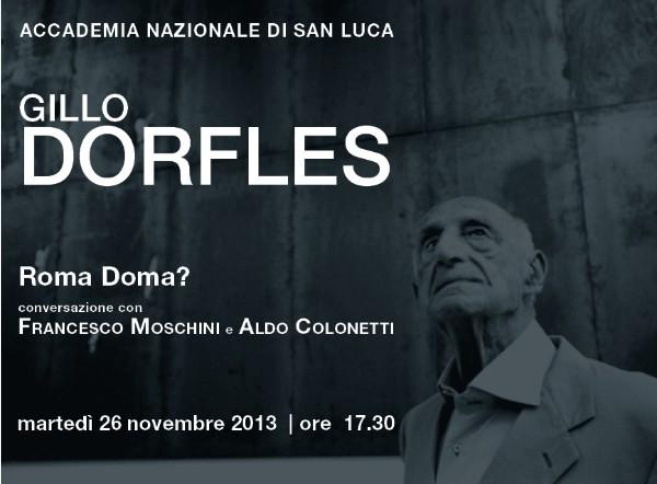 invito Dorfles Roma
