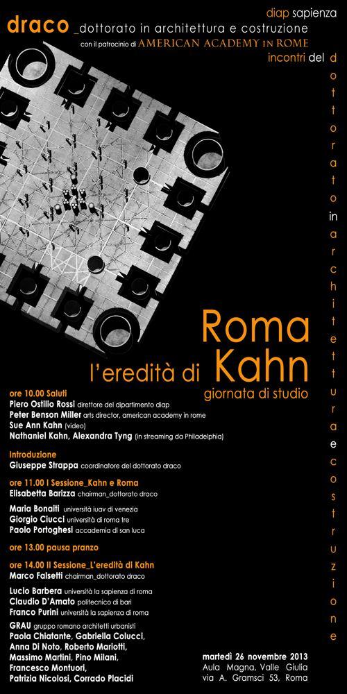 locandina Roma l'eredità di Louis Kahn