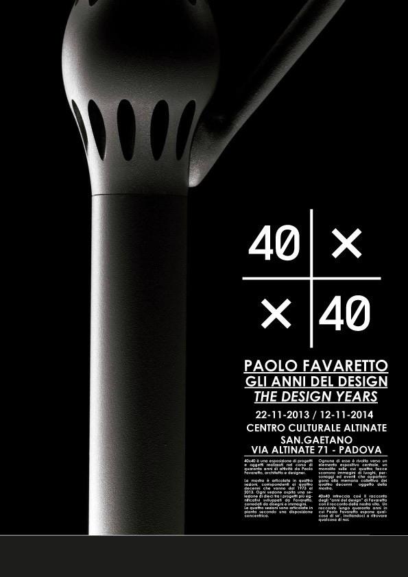 poster 40x40_Paolo Favaretto Gli anni del design