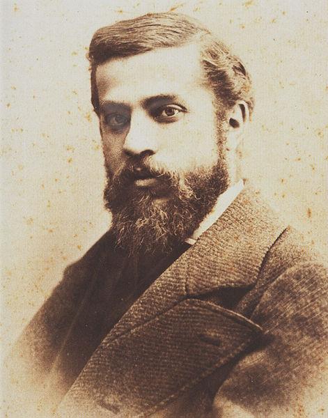 Antoni Gaudí 1878 imagecredits PD