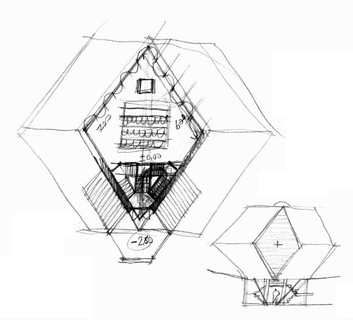Botta schizzo preliminare Granatkapelle imagecredits Studio Mario Botta