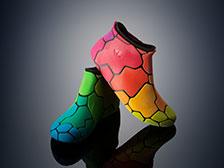 Objet500 Connex3 color rubber shoes imagecredits stratasys.com
