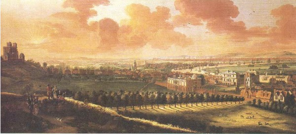 P Tillemans London from Greenwich Park 1718 imagecredits correr.visitmuve.it