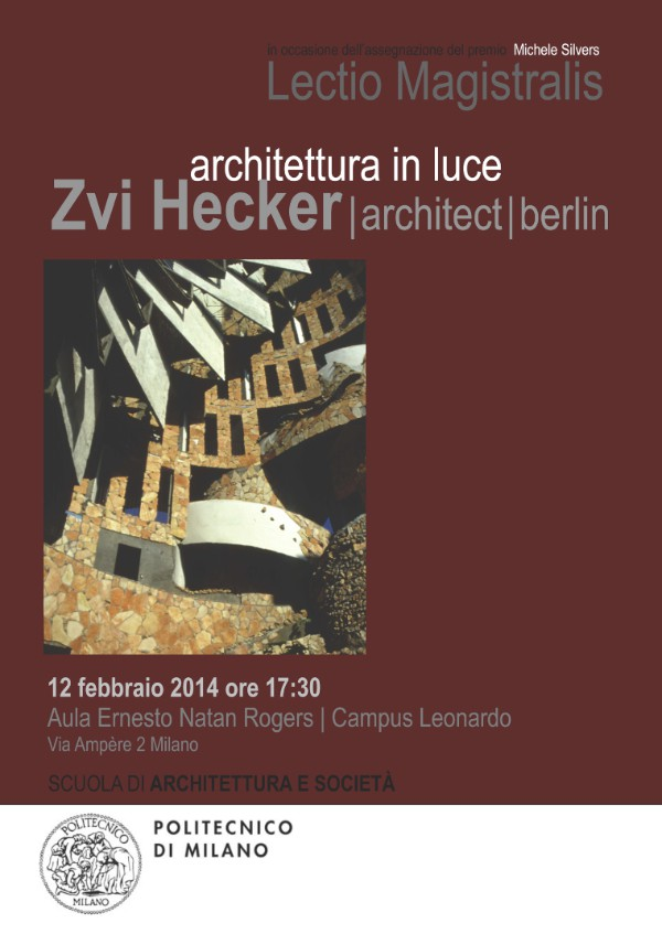 poster Zvi Hecker Milano imagecredits polimi.it