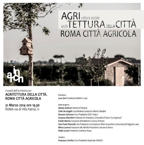 Agritettura della città imagecredits invito inarchlazio.it photo © Francesco Orini
