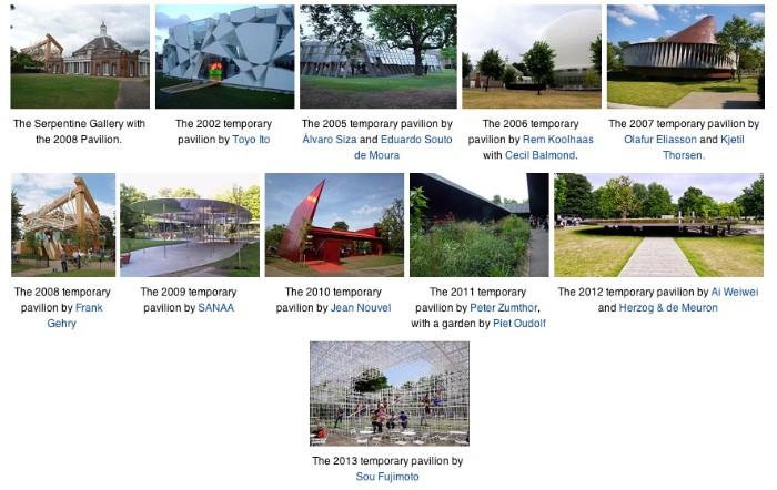 Serpentine Pavilions en.wikipedia page
