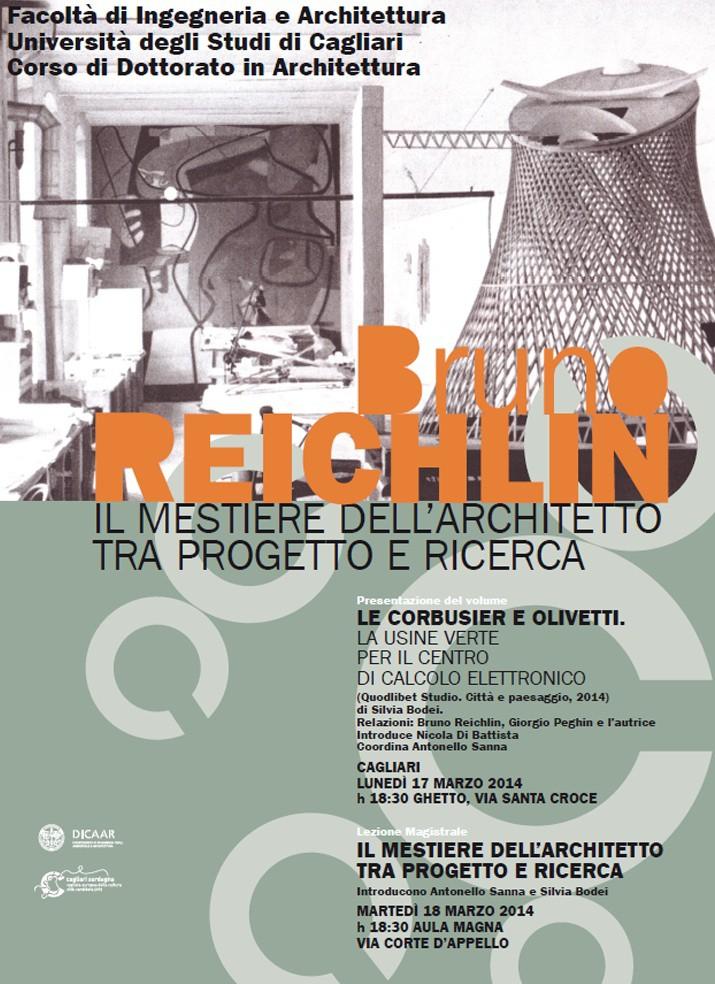 locandina Bruno Reichlin Cagliari imagecredits unica.it