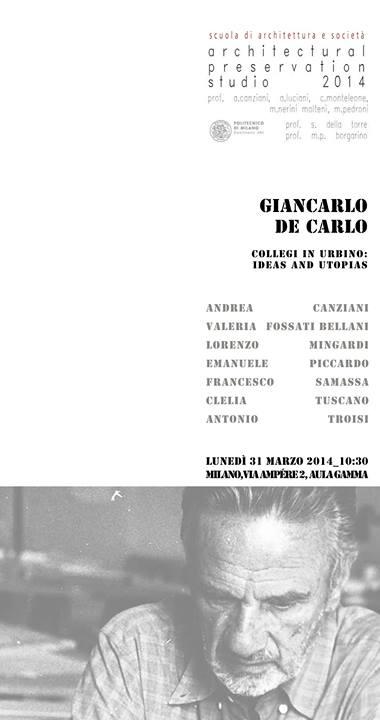 locandina De Carlo Collegi Milano imagecredits arch.polimi.it