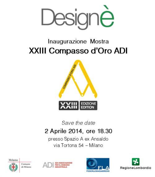 locandina mostra XXIII Compasso d'Oro imagecredits adi-design.org