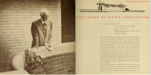 Sixty years of living architecture - the work of Frank Lloyd Wright (1953)