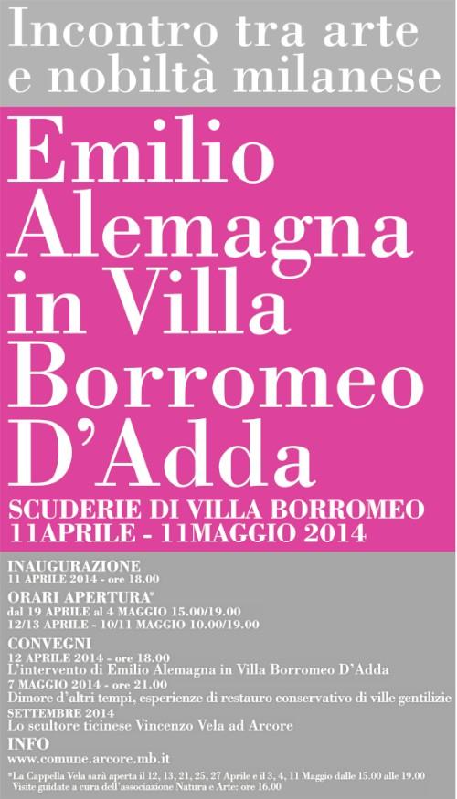 locandina mostra  Emilio Alemagna imagecredits comune.arcore.mb.it