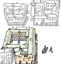Archiginnasio dalla carta di Bologna di Matteo Barboni 1724 imagecredits archiginnasio.it