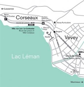 mappa Villa «Le Lac» Le Corbusier imagecredits villalelac.ch