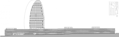 Herzog & de Meuron New Headquarters for BBVA Madrid prospetto calle Fresneda imagecredits herzogdemeuron.com