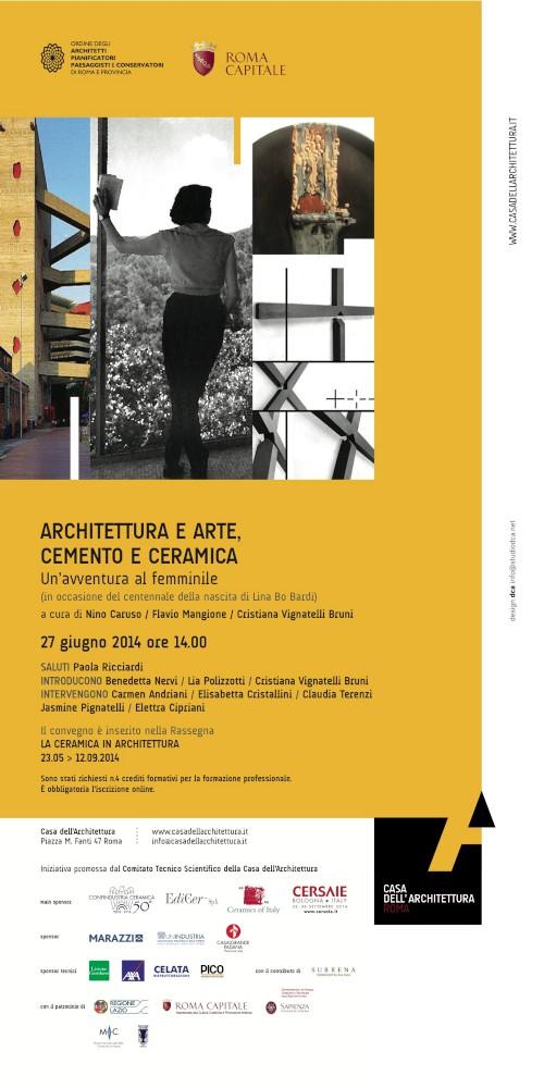locandina Architettura e Arte, Cemento e Ceramica Un'avventura al femminile imagecredits casadellarchitettura.it