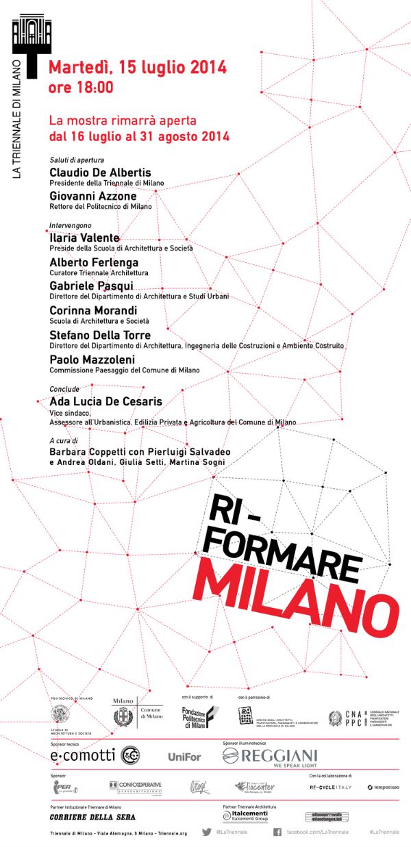 locandina Ri-formare Milano imagecredits triennale.it