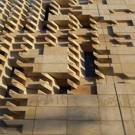 RPBW Valletta City Gate facciata del Parlamento dettaglio