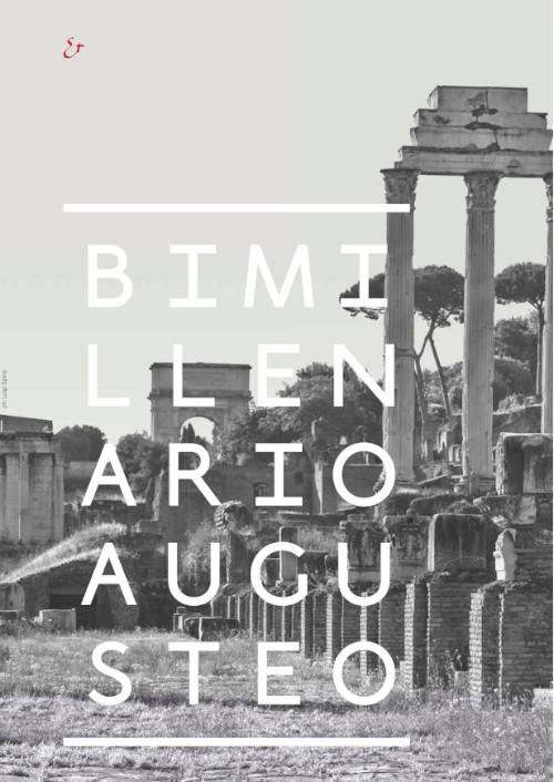 copertina brochure illustrata con il programma del Bimillenario augusteo imagecredits archeoroma.beniculturali.it