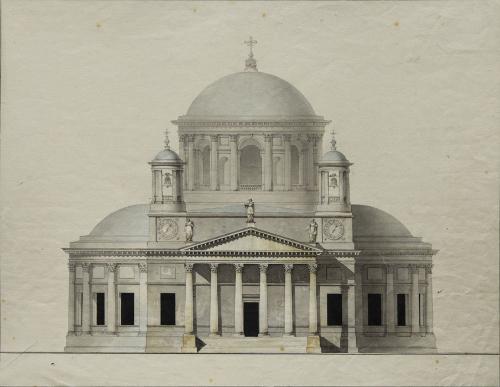 Giacomo Quarenghi (1744-1817) Progetto incompleto della Cattedrale di Kazan'a Pietroburgo,1780, San Pietroburgo, Museo di Stato della storia di San Pietroburgo