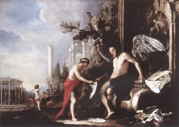 Johann Heinrich Schönfeld Allegoria del Tempo 1630- imagecredits CC PD