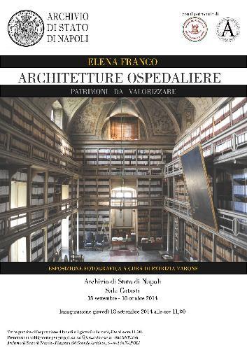 locandina mostra Architetture Ospedaliere Napoli