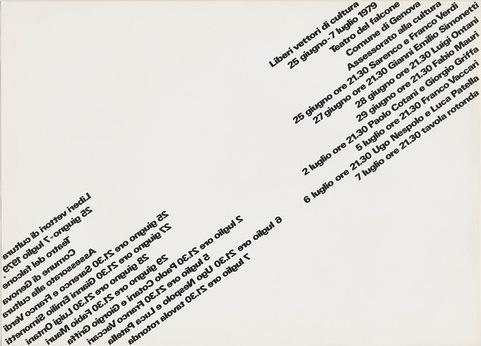 AG Fronzoni poster Liberi Vettori di Cultura 1979
