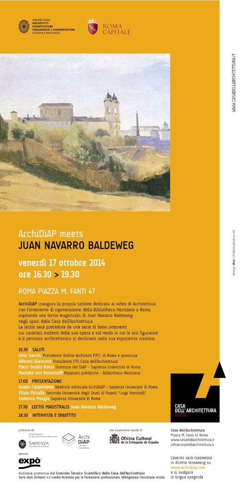 ArchiDiAP meets Juan Navarro Baldeweg - Locandina