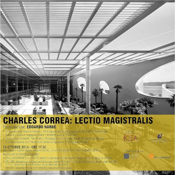 invito lectio magistralis Charles Correa Padova