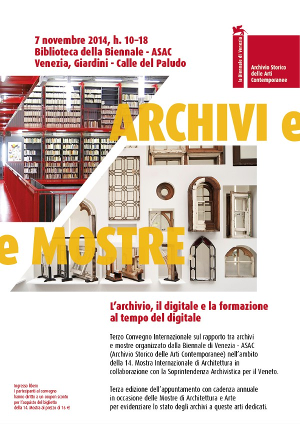 III convegno Archivi e Mostre Venezia imagecredits labiennale.org