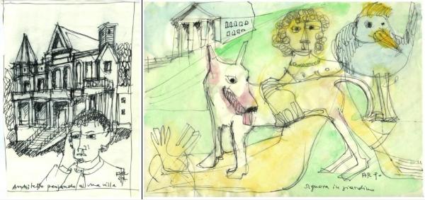dal com.stampa della mostra Aldo Rossi. Autobiografia poetica galleria Jannone Milano
