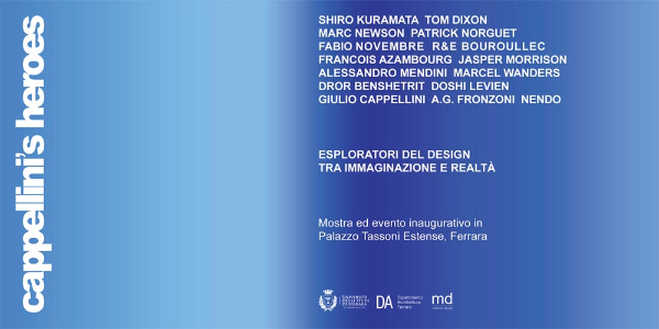 invito alla mostra Cappellini's Heroes imagecredits materialdesign.it