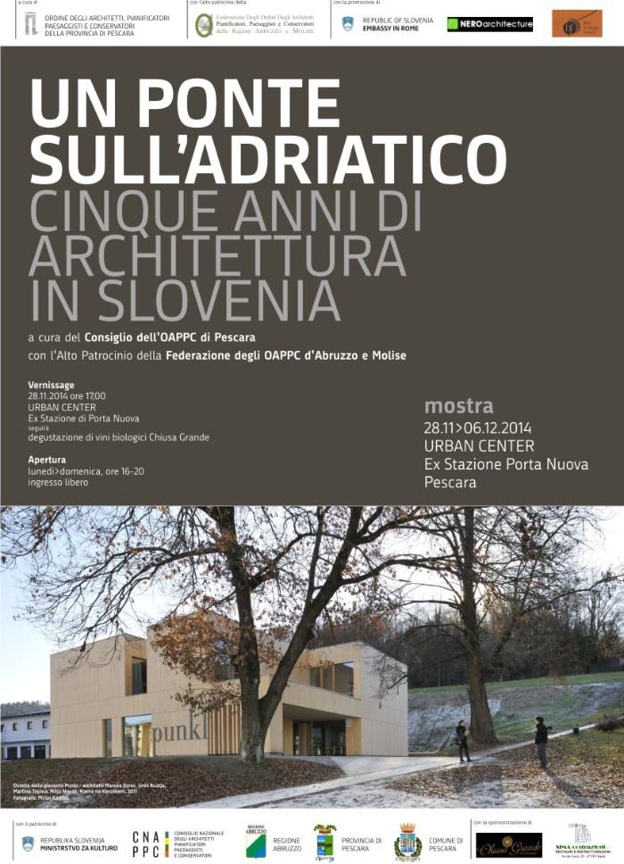 locandina 5 anni di architettura slovena Pescara imagecredits architettipescara.it