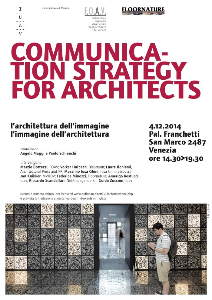 locandina Communication strategy for architects imagecredits iuav.it