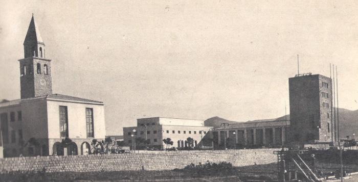 Il centro di Carbonia veduta d'epoca