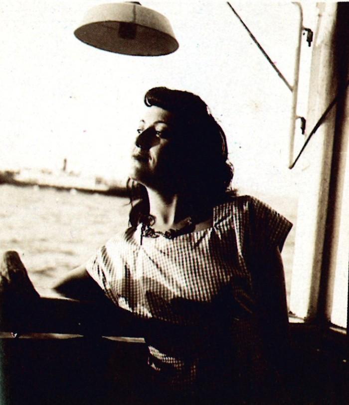 Lina Bo Bardi sulla nave Almirante Jaceguay verso il Brasile 1946 imagecredits fondazionemaxxi.it